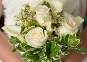 The Hitching Post - Calla Lilies and Rose Bouquet