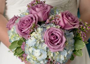 The Hitching Post - Hydrangea and Rose Bouquet